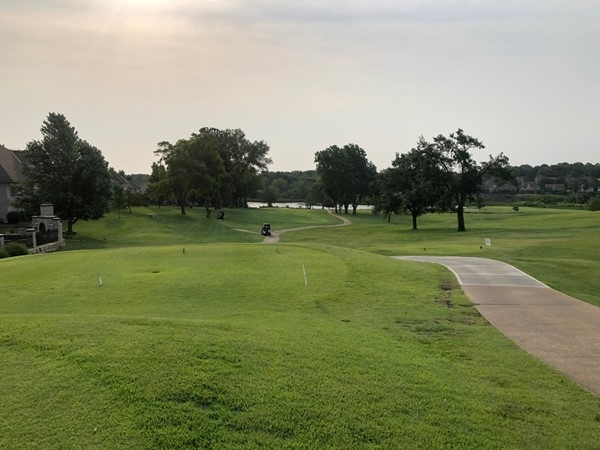 Beautiful morning for the KCK Chamber Golf Event at Dubs Dread.  View from the 10th tee box