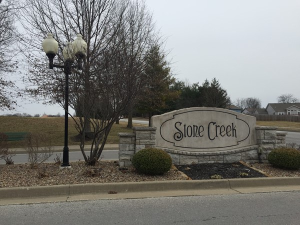 Entrance to Stone Creek, quiet neighborhood, fantastic location