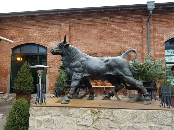 Watch out for the Bull at Jack Stacks BBQ, located in downtown Kansas City