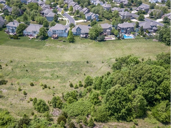 Homes in Fairfield Manor Subdivision backing the Overland Park - city greenspace