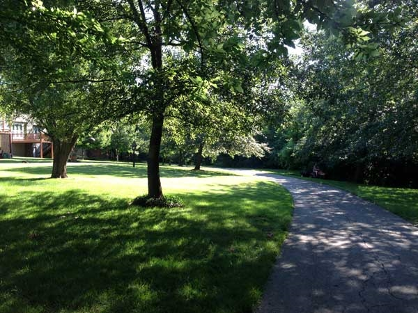 Scenic walking trail in Fairway Woods subdivision.