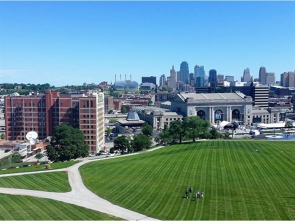 Downtown skyline view from the National World War I Liberty Memorial