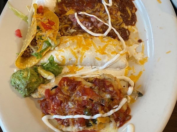 Sampler platter to share at Los Cabos Mexican Grill & Cantina! So yummy