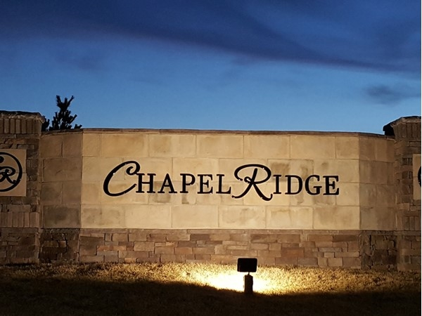 The lights are on at Chapel Ridge!  New homes are under construction