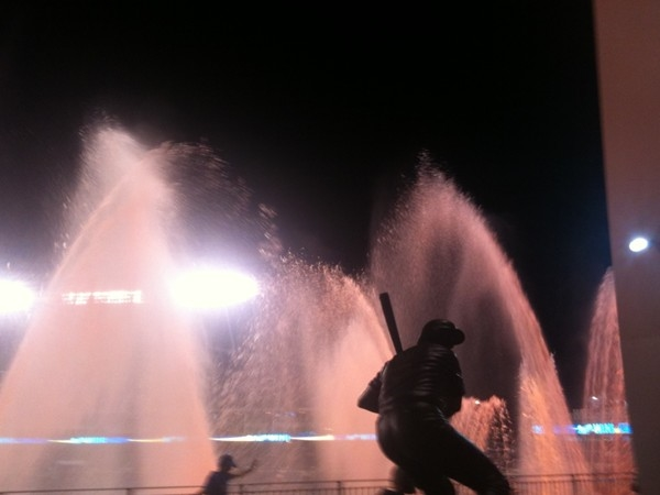 The George Brett Statue at Kauffman Stadium