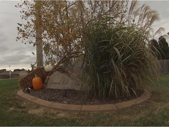 Rosewood Hills Subdivision showing its Halloween spirit