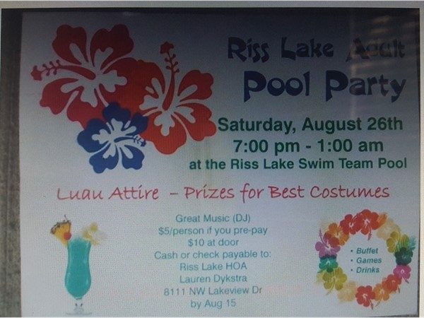 Adult pool party tonight