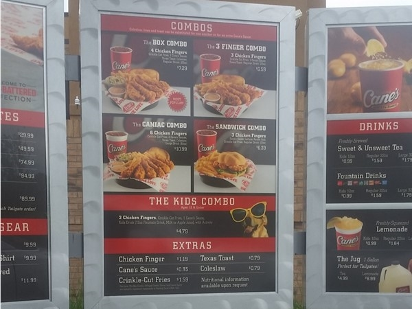 Raising Cane's is open for business! Very courteous