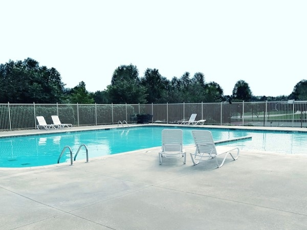 Sparkling pool at the Park Ridge community clubhouse