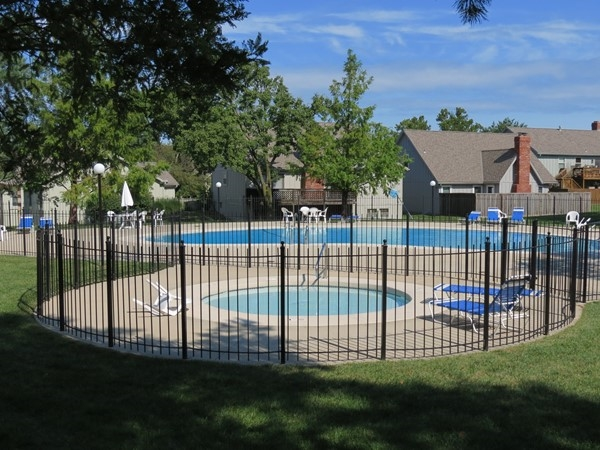 One of the many beautiful pools at Four Colonies