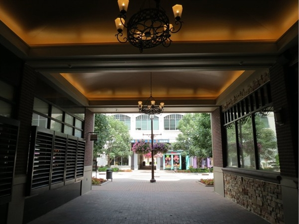 A view into the Park Place shops