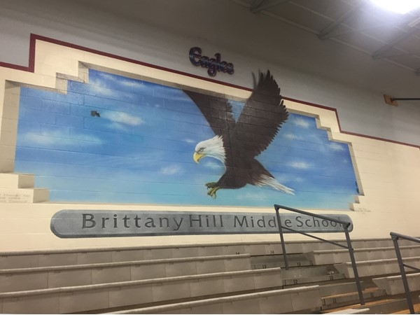 Awesome mural in Brittany Hill Middle School gym