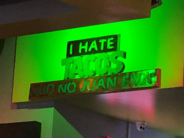 Margaritas Mexican Cantina. Love this!! So very true