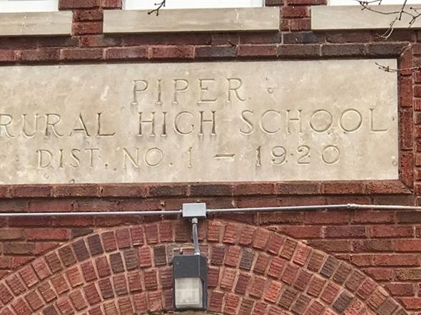Piper Rural High School was established in 1920