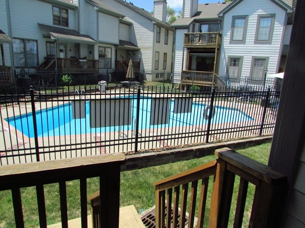 Private pool for residents