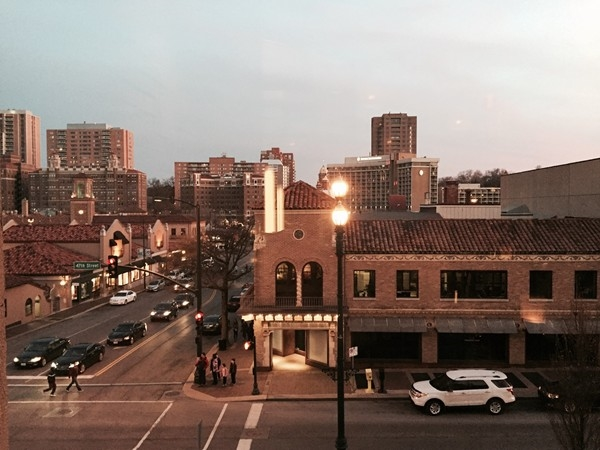 View from Cooper's Hawk Winery & Restaurant on the Plaza