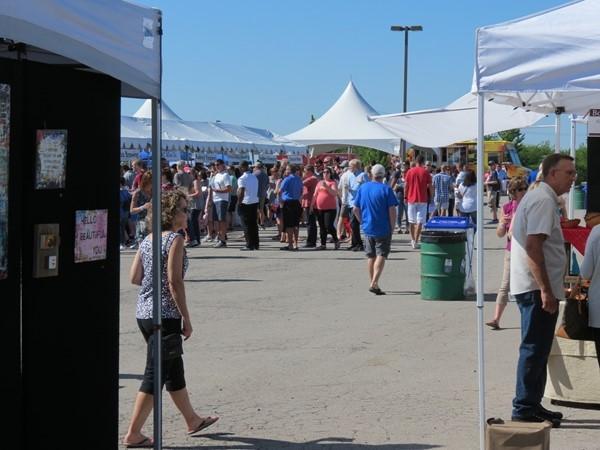 The Lenexa Art Fair at Lenexa City Center. Great show, good food, and perfect weather