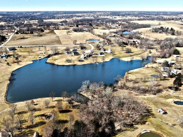 Beautiful subdivision in Kearney Schools that offers two private lakes for residences