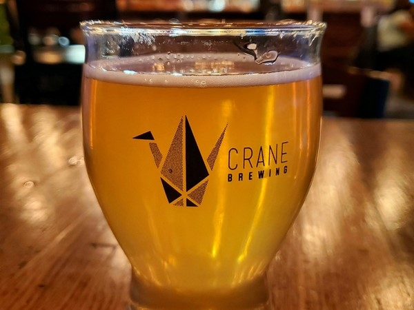 Guava Weiss Beer at Crane Brewing