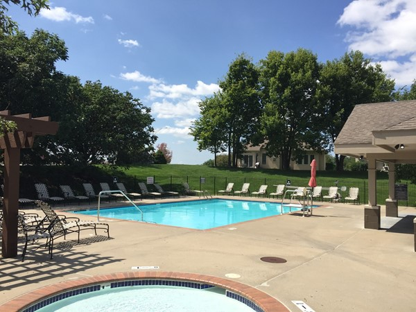 One of two pools that the community enjoys in North Brook