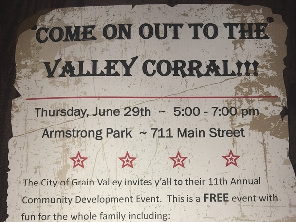 Come get in the community spirit at the Valley Corral