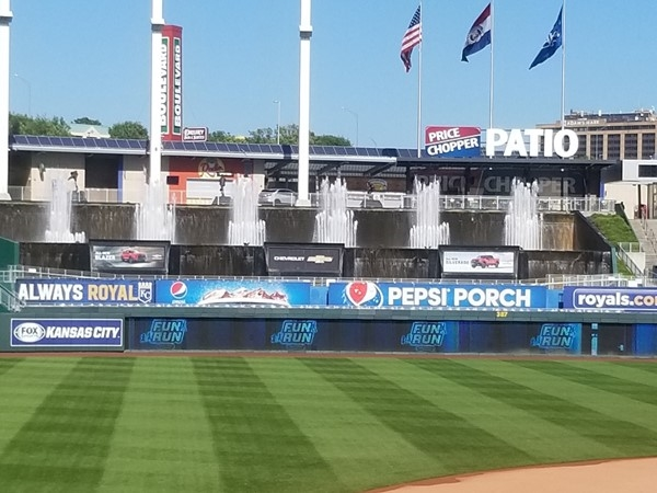 A great looking lawn! At the K, in Kansas City, MO. Wishing for baseball season to return