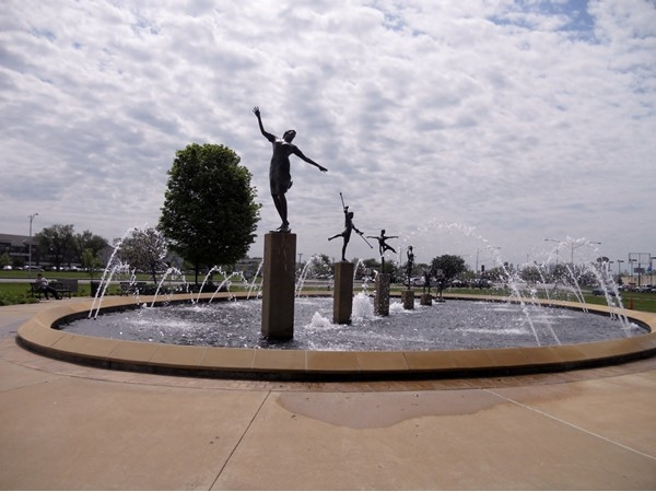 "Children's Fountain Park in North Kansas City; Kansas City is knows as ""The City of Fountains"""