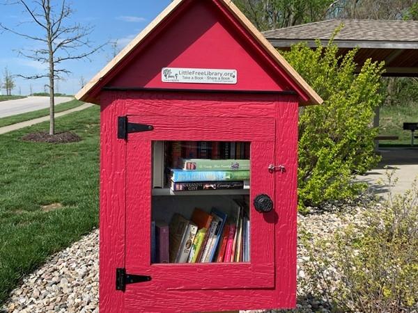 Book sharing box in Falcon Lakes