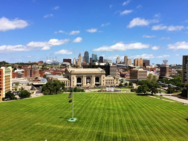 Downtown Kansas City, overlooking Union Station from the Liberty Memorial
