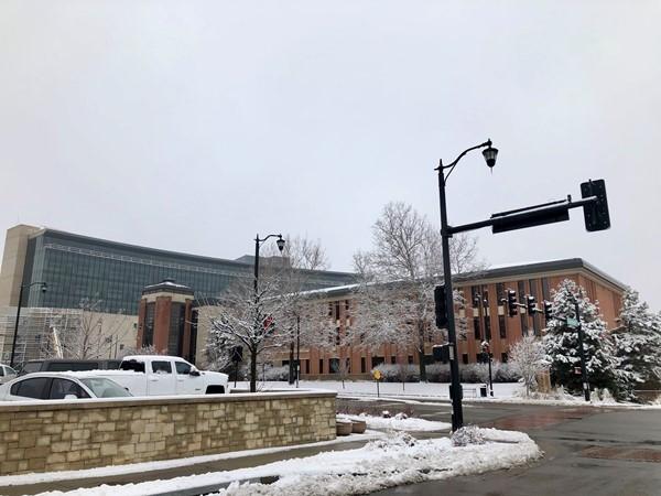 Snowy Downtown Olathe