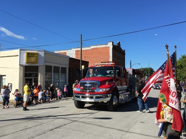 A good turn out for the Pioneer Days Parade