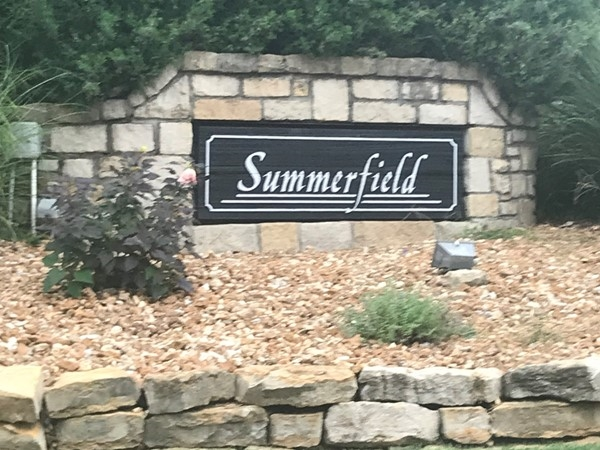 Front entrance to Summerfield Subdivision