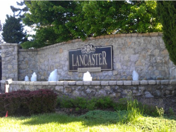 Entrance to Lancaster subdivision in Overland Park, KS.
