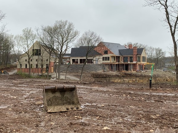 A home in progress just before the empty cul de sacs to the east in southern Winnebago