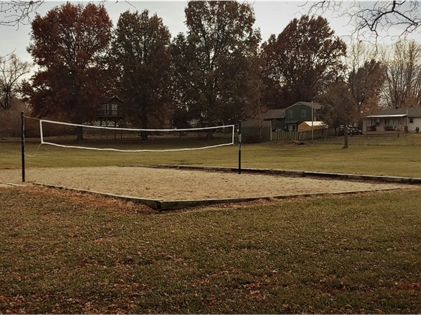 Rotary Park not only has two playgrounds, but also a volleyball net! So much to do here