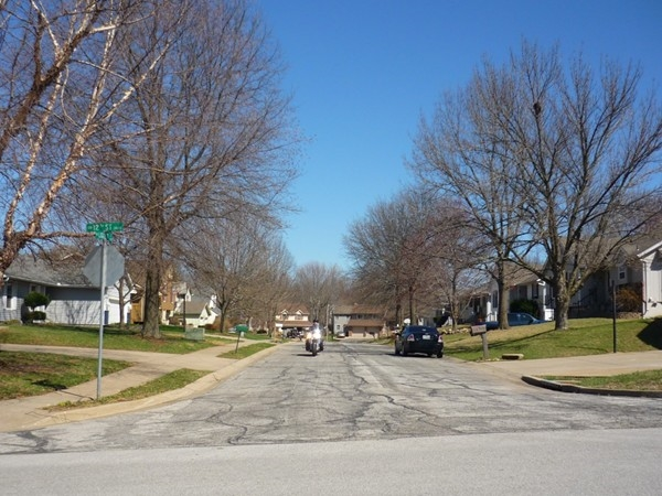Southwest Liggett Court from Southwest 12th Street in Eastman Hills looking east