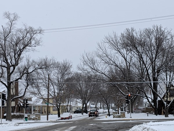 NKC features tree lined streets and terrific city snow removal, making winter enjoyable