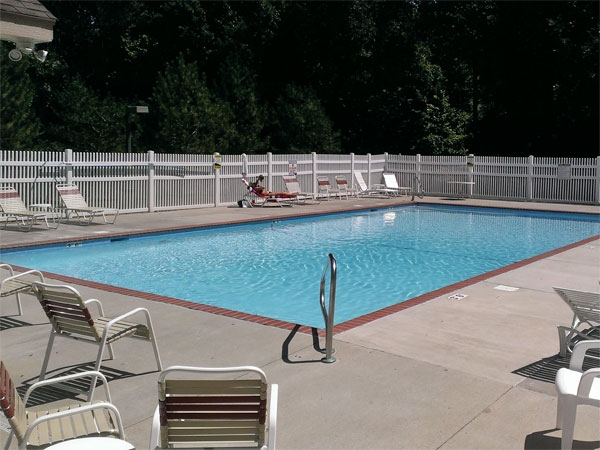 Secluded pool area in the Withersfield Subdivision
