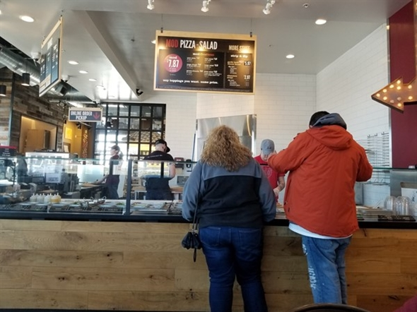 A picture inside MOD Pizza, in Raymore