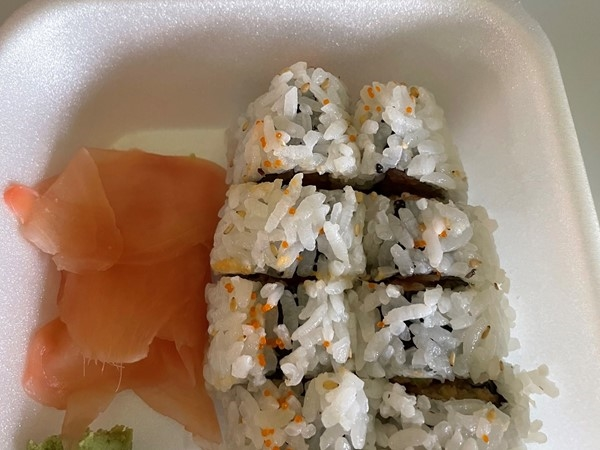 My lunch today!  Yum, thank you KC Sushi...you are always a treat ~ Love these spicy tuna rolls