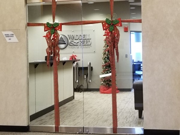 All decorated for Christmas!  Senior Financial Adviser Mike Blomberg's office