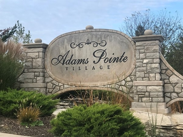 Front entrance of Adams Pointe Village