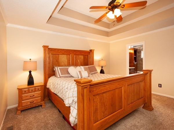 A nice master bedroom at Ward Park Place