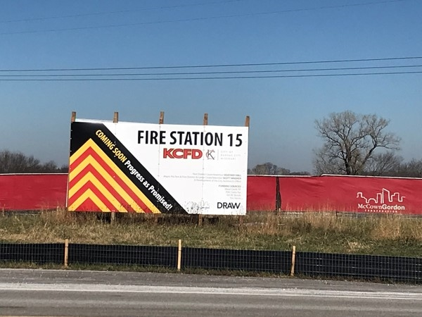 New fire station on Cookingham just east of 35! Great for the Northlands