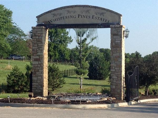 Entrance to Whispering Pine Estates
