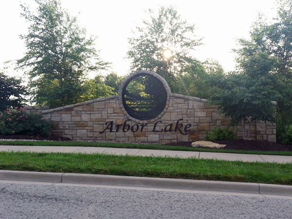 Arbor Lake Subdivision Entryway