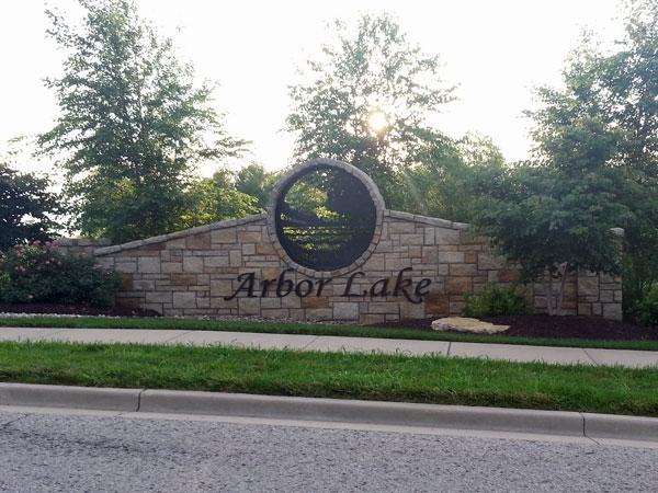 Arbor Lake Subdivision Entryway
