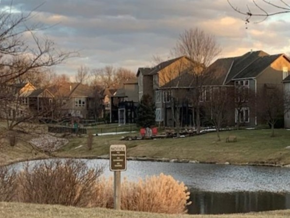 Nice view of the pond and homes in Tiffany Lakes