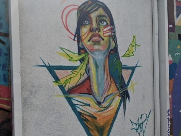 Custom artwork in the neighborhood