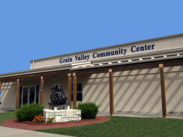 Entrance to the Community Center in Grain Valley